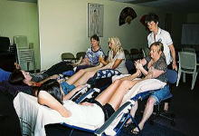 Massage School of Queesland Australia 実技講習